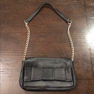 Kate Spade black leather bow bag
